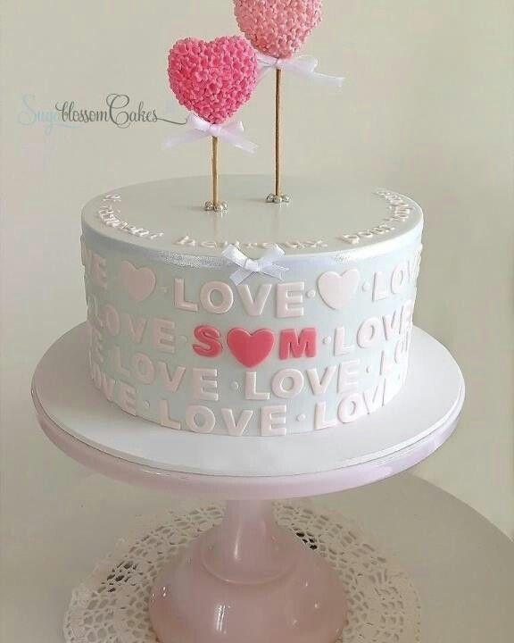 Cute love cake