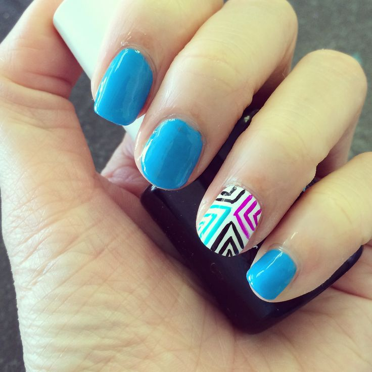 Nail art design essie polish blue | Fashion | Pinterest