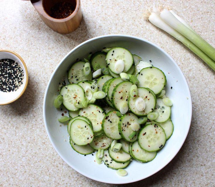 Sesame Cucumber Salad | Yes to Yolks | Good eats | Pinterest