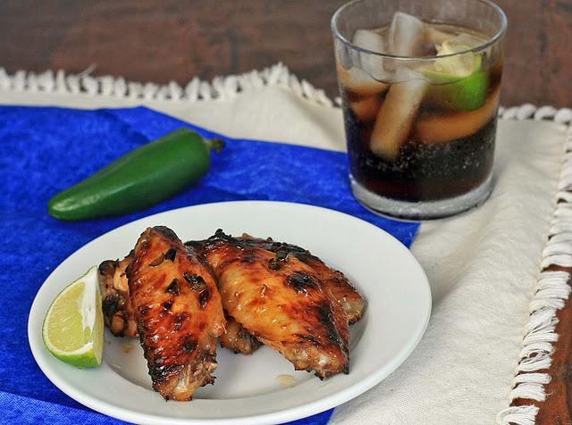 Spicy Coca-Cola Jalapeno Glaze Chicken Wings