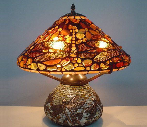 dragonfly lamp tiffany style decorative stained glass table lamp t. Black Bedroom Furniture Sets. Home Design Ideas