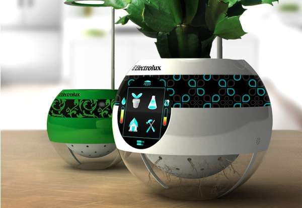 The electrolux pot moots monitors the health of your indoor plants