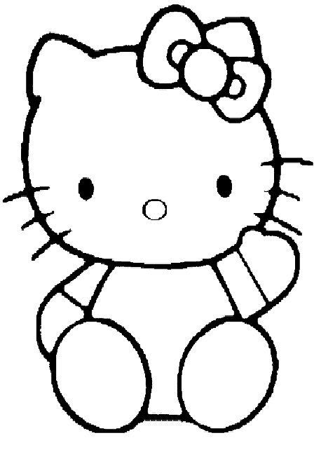 Hello Kitty Baking Coloring Pages : Hello kitty tracing food baking and cake decorating