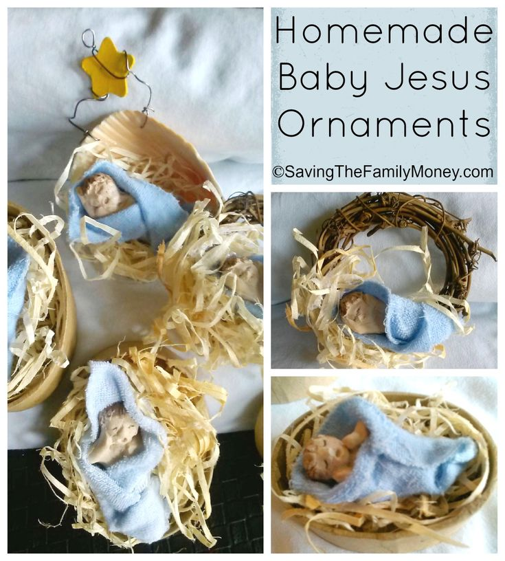 Homemade baby jesus ornaments christmas art crafts for kids