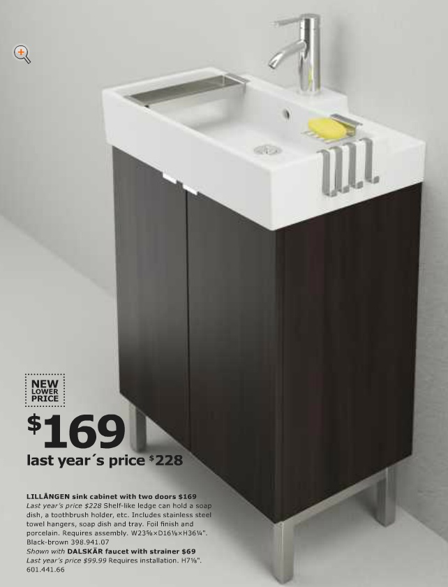 From Ikea Usa 2013 Catalog Bathroom LILL NGEN Sink With Matching Cabinet D
