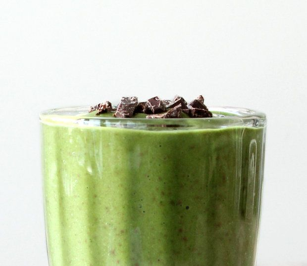 Healthy Green Smoothie Recipes | Mint Chocolate Chip Green Smoothie