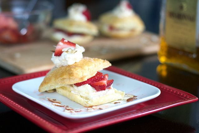 Strawberry Napolean with Mascarpone Whipped Cream, this is basically a ...