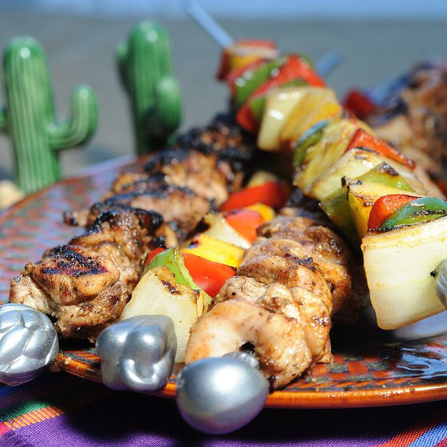 ... -made and stacked in a cooler for easy grilling. #grill #kabob #camp