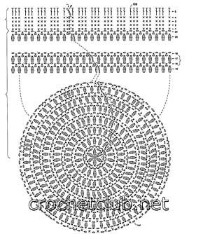 Crochet Beanie Pattern Diagram : Beanie crochet mohair diagram Hats for ladies, girls and ...