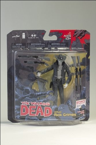 McFarlane Toys The Walking Dead COMIC Series 1 Exclusive Action Figure Officer Rick Grimes Black White Variant $49.99