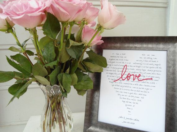 Wedding gifts for brides parents, grooms parents 2 LOVE prints 8 10 ...