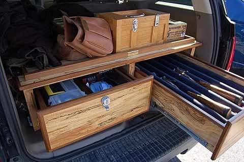 Pickup bed gun gear storage truck bed storage pinterest - Homemade truck bed storage ...