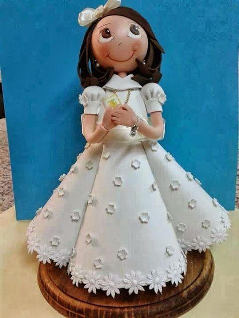 MuñEca De ComunióN | Fofuchas/foamy dolls/diy | Pinterest