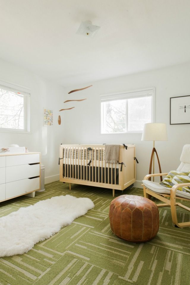 Modern Gender Neutral Nursery - the inspiration for the nursery was natural colors and textures! #nursery