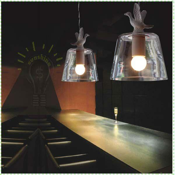 Atacado bonito passarinho minimalismo moderno pingente de vidro da lâmpada restaurante bar Staircase crianças decoração do quarto pendurado luz 2013-in Luzes Pingente de Luzes e iluminação em Aliexpress.com $65,00