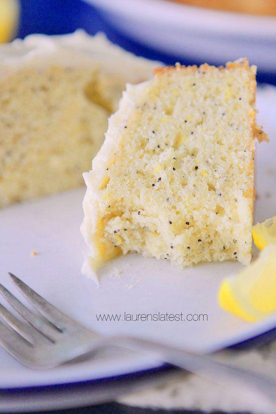 lemon poppyseed cake love anything lemon poppyseed but this has a ...