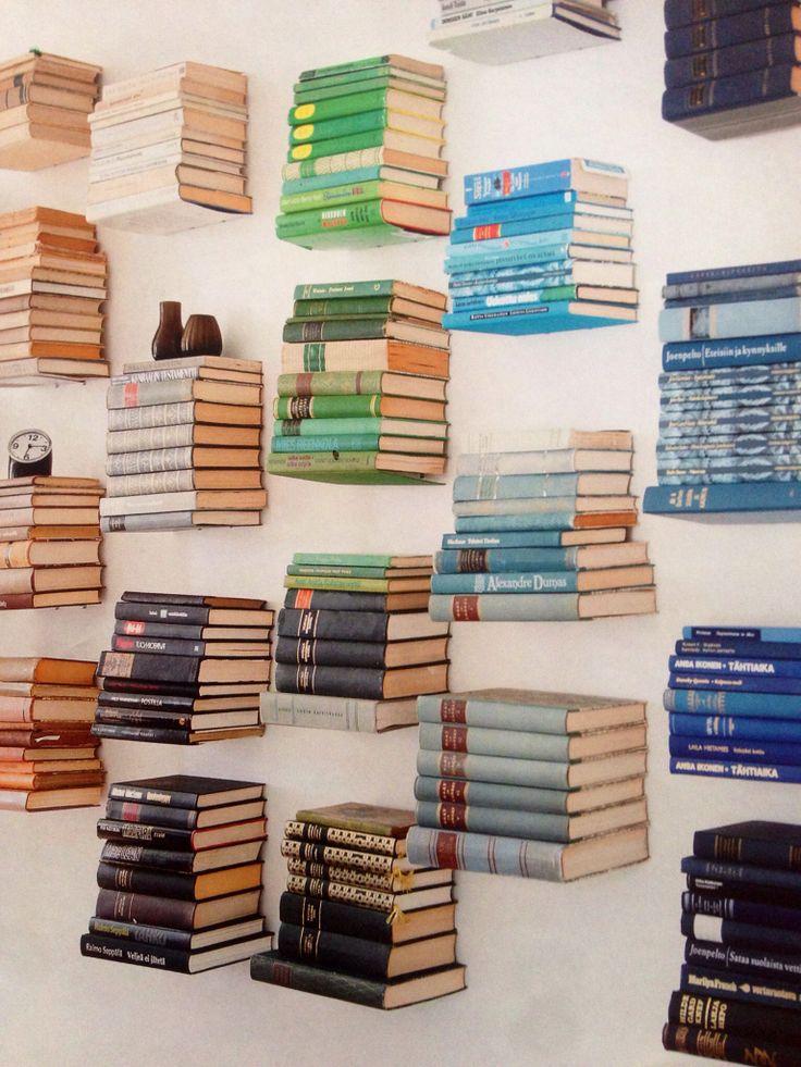 Floating Book Shelves Home Deco Furniture Storage