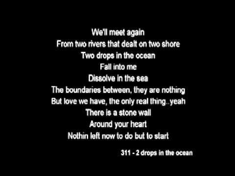 311 lyric beautiful disaster:
