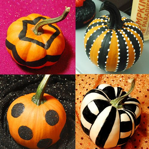 Pumpkins! - Most of these were done with permanent markers! Some had acrylic paint