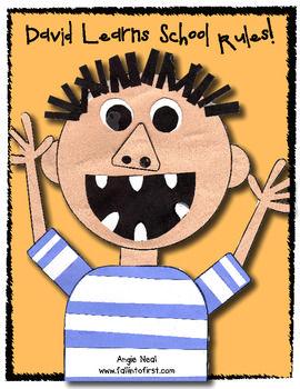David Learns the School Rules Craftivity and Writing - FREEBIE!