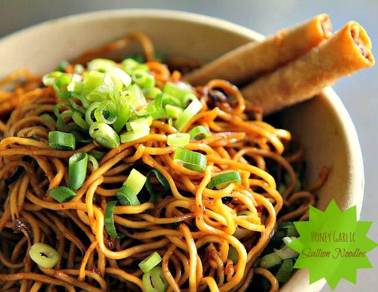 Garlic Scallion Noodles Recipe — Dishmaps