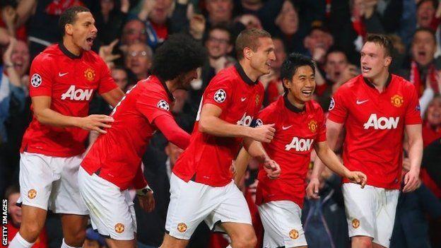 man utd draw in champions league