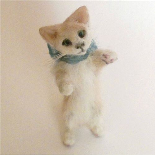 1 12 12th Dollhouse Miniature OOAK Artist Kitten Cat by Paws of Love Miniatures | eBay