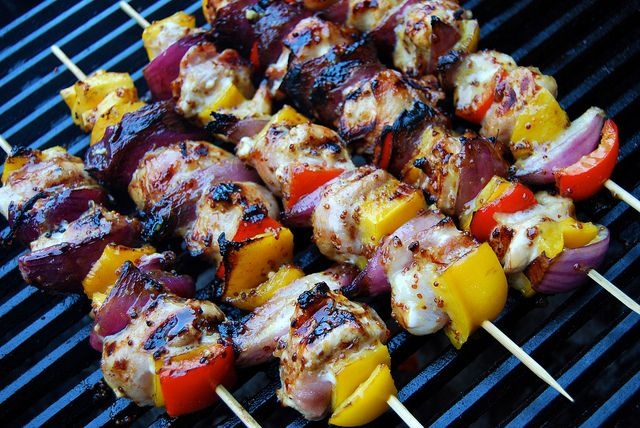 honey and mustard chicken skewers honey mustard chicken kabobs at