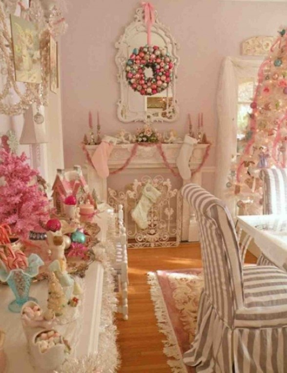 Shabby chic christmas christmas decor pinterest for Shabby chic christmas