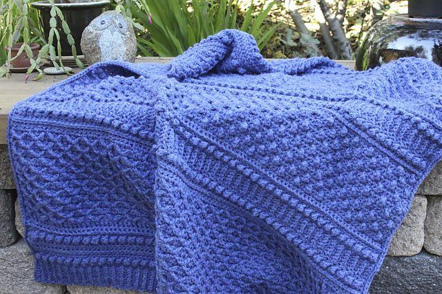 Crochet Pattern Aran Afghan : Pin by Montse Mart? on Ganchillo (Crochet) Pinterest