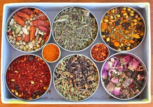 A Round-Up of Homemade Spice Blends to spice up your life {and your food!} from Simple Bites