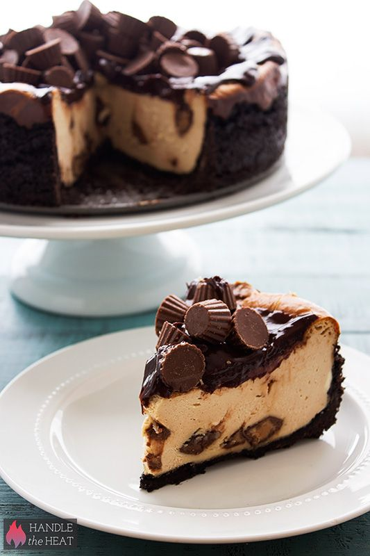 Peanut Butter Cup Cheesecake @Handle the Heat | Tessa Arias