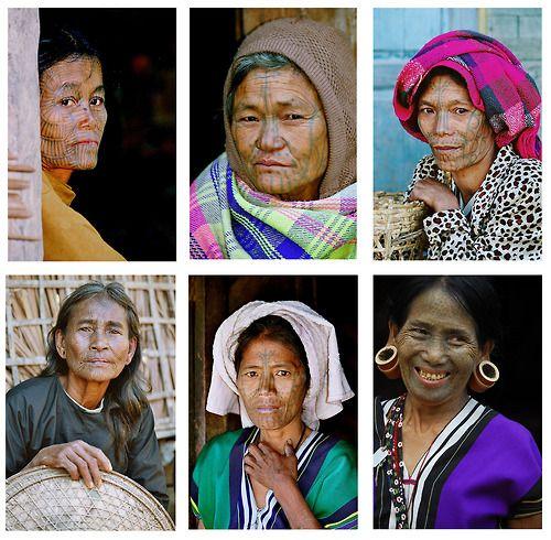 Myanmar tattoo women
