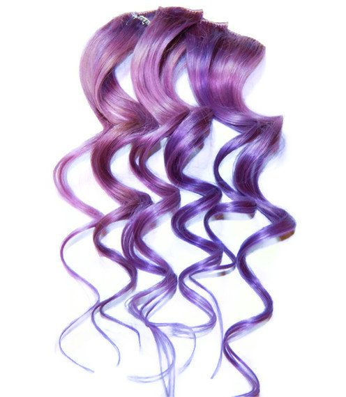 Lilac Clip In Human Hair Extensions 43