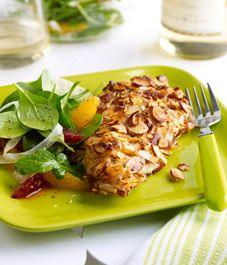 Orange Almond Chicken w arugula, Fennel & orange salad. made Chix with ...