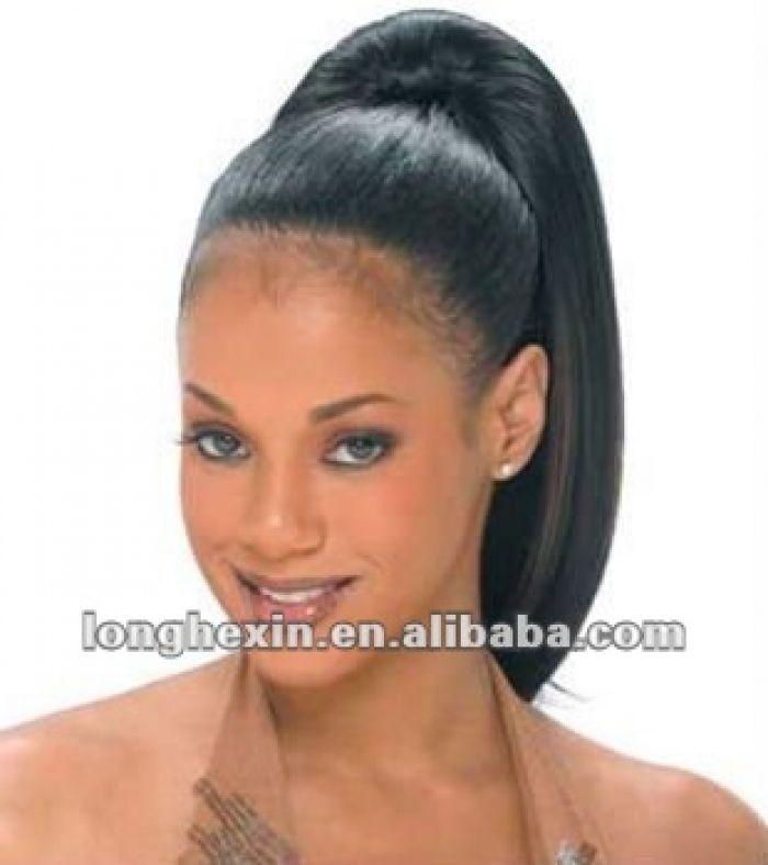 Virgin Human Hair High Ponytail Full Lace Wigs For Black Women Design ...
