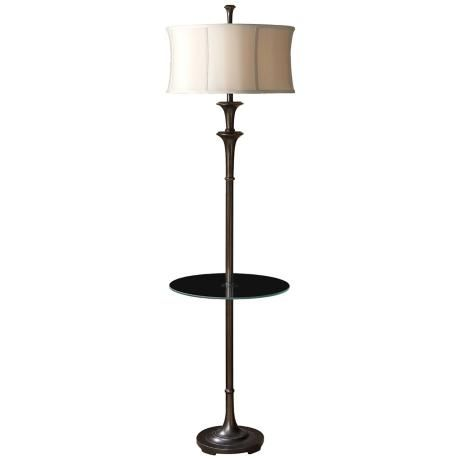 uttermost brazoria glass tray floor lamp. Black Bedroom Furniture Sets. Home Design Ideas