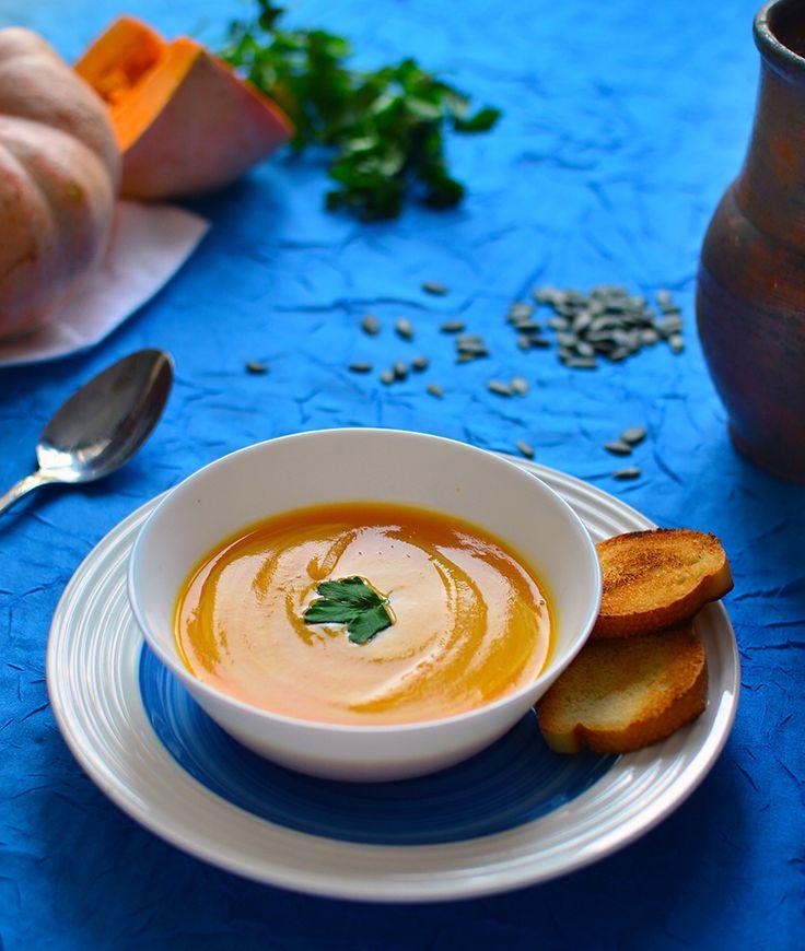 Крем суп с шампиньонами и сыром в