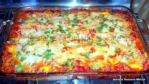 Easy Manicotti - No more trying to stuff those pesky Manicotti tubes ...