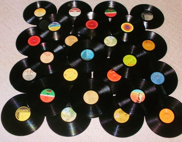 1970 39 s rock music lot of 25 vinyl record albums for for Vinyl record decoration ideas