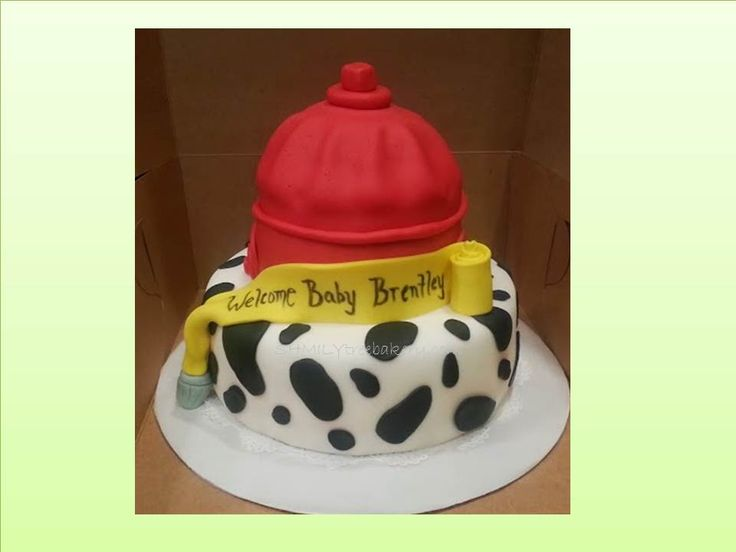 firefighter baby shower cakes