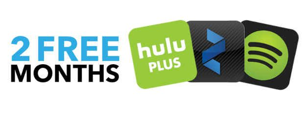 Two free months of Spotify Premium, Hulu Plus, or Zinio. | 13 Things ...