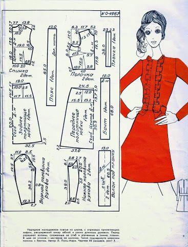 Смотреть журнал выкройки платьев
