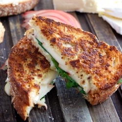 Ham, Brie & Pear Panini - An upscale grilled cheese sandwich that ...