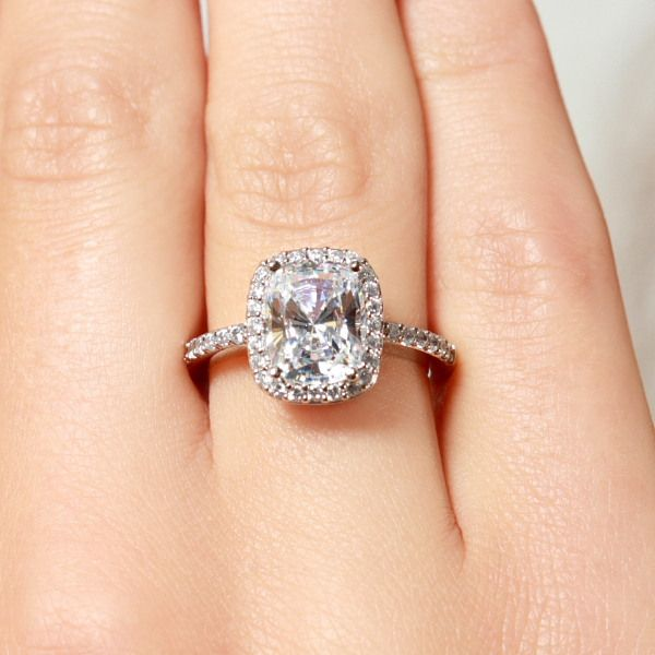 2 5 Carat Cushion Cut Halo Engagement Ring We Know How