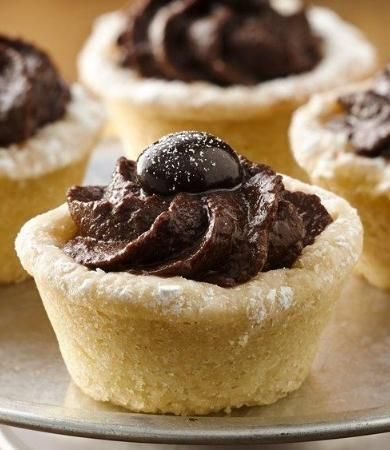 Mocha Hazelnut Truffle Tartlets | Recipe