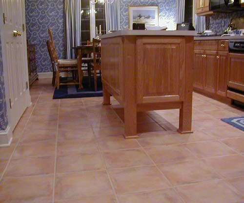 Terracotta Floor Tiles I Have This Tile In My Kitchen But The Grout