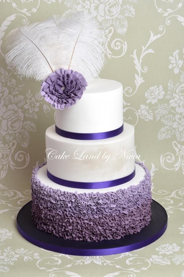 Elegant Birthday Cake Decorating Ideas : Purple wedding cake Fancy Cupcakes and Cakes Pinterest