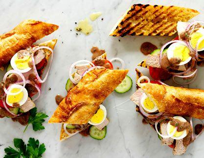 Tuna Nicoise Sandwiches | Dashrecipes.com....#lovesomeatun