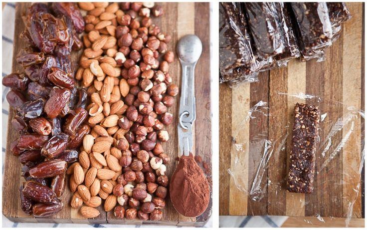 Homemade Chocolate Hazelnut Larabar from Naturally Ella (http ...